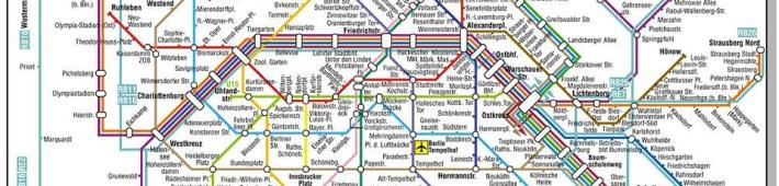 Schematic map of Berlin transport network